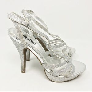 Unlisted silver sparkling heels